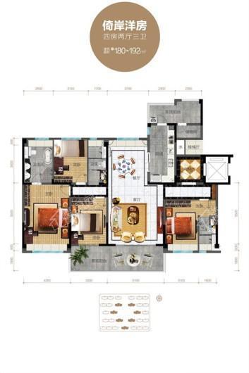 碧桂园中央半岛倚岸洋房 4室2厅3卫1厨