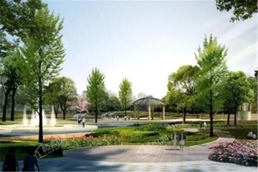 碧桂园中央半岛园林景观示意图