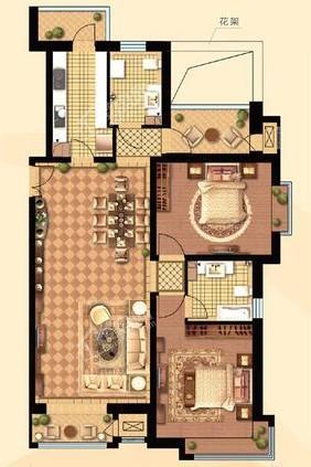 高层130#131#楼A户型135㎡两居