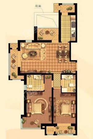 高层130#131#楼D户型132㎡两居