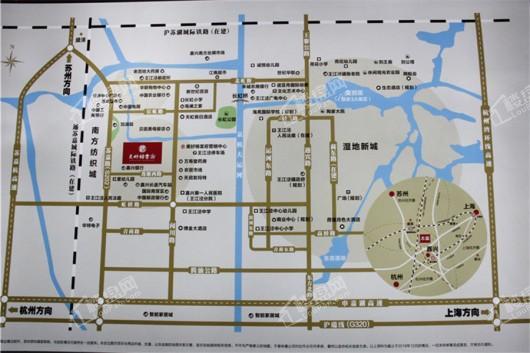 美好锦棠府交通图