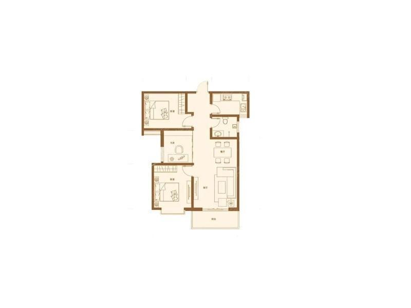 C区B-3室2厅1卫-95.0㎡