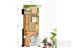 碧桂园森林湖高层公寓60平米户型 1室1厅1卫1厨