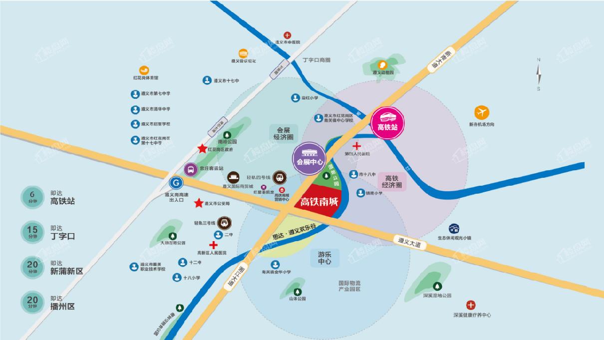 高鐵南城位置圖