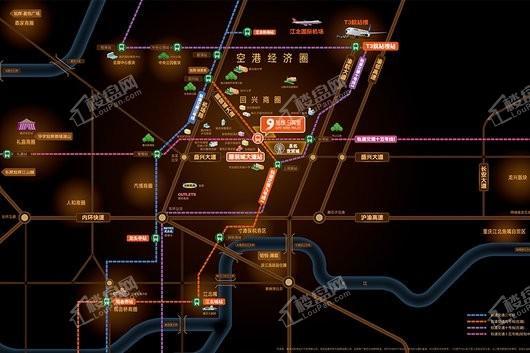 旭辉9英里T3公馆交通图