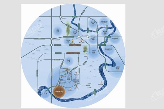 首创.西江阅交通图