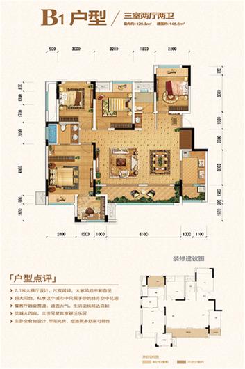 金科城嘉陵江上户型图