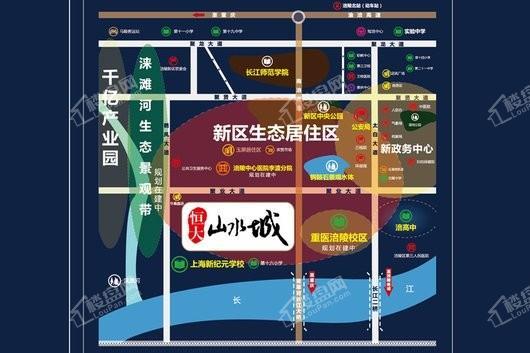 涪陵恒大山水城交通图