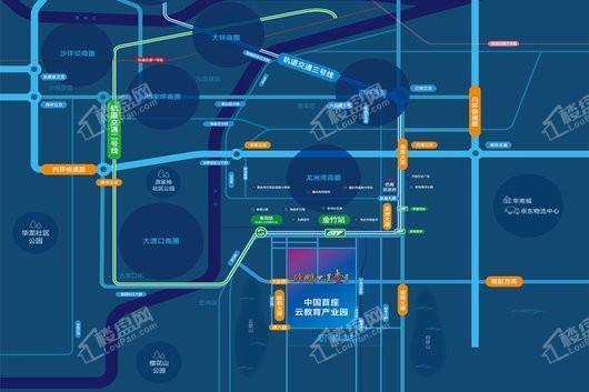 巴南新鸥鹏教育城商业街交通图