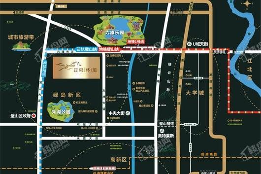 中国铁建·東林道交通图