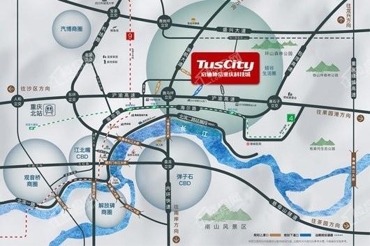 启迪协信重庆科技城交通图