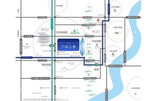阳光城·地博·凌云渡交通图