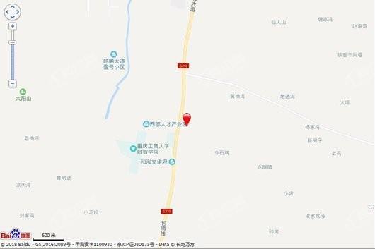 大发熙悦書山境交通图