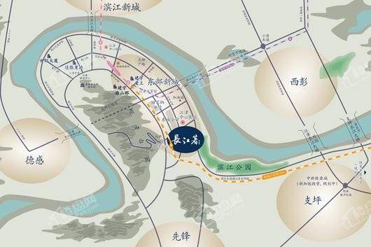 裕城·长江著交通图