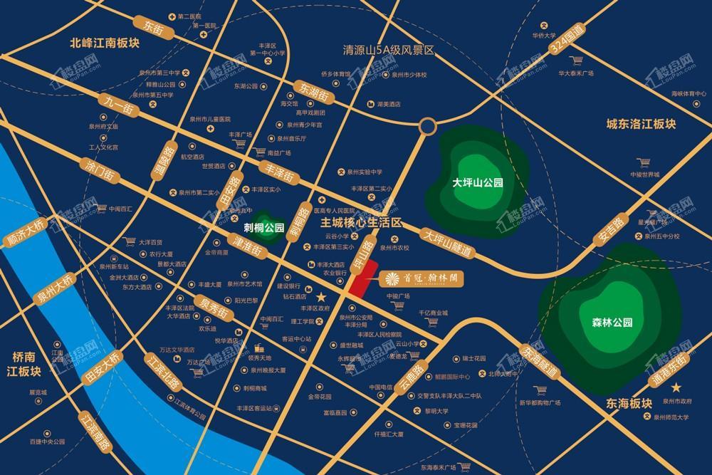 首冠翰林阁位置图