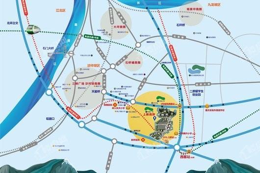 万科金色悦城五期交通图