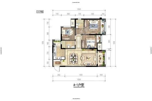 蓝光·申佳·雍锦澜庭户型图