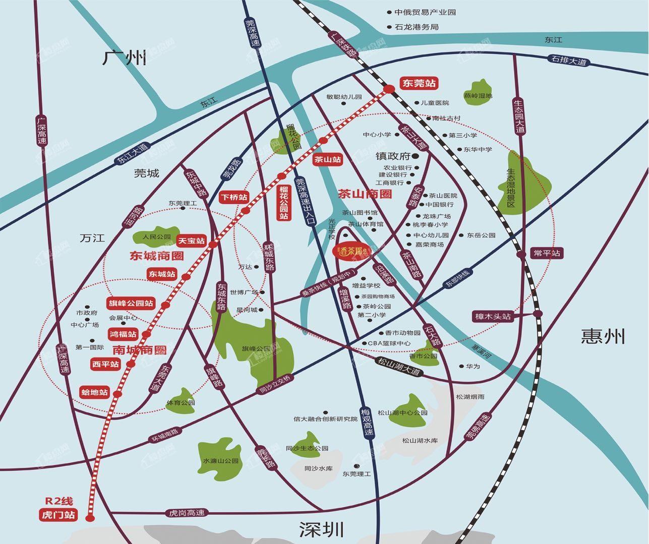 富盈香茶郡二期位置图
