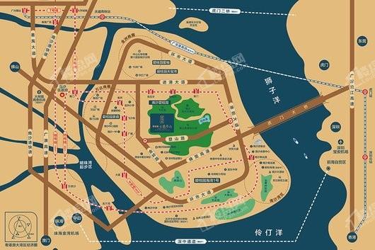 碧桂园云麓半山交通图