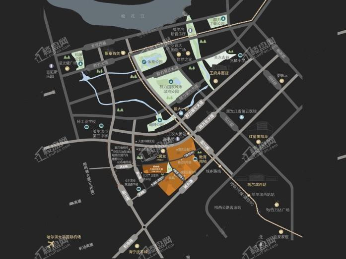 桐楠格·万科公园大道位置图