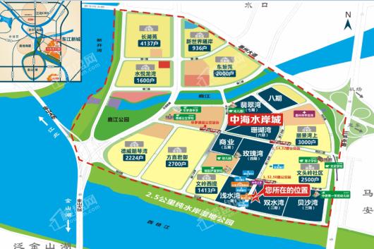 中海水岸城花园配套图