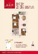 BCD#23户型3房2厅1卫97平