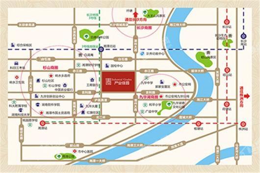 九华产业佳园交通图