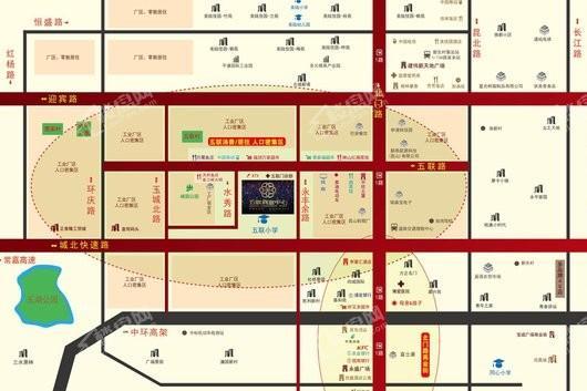 五联商业中心交通图