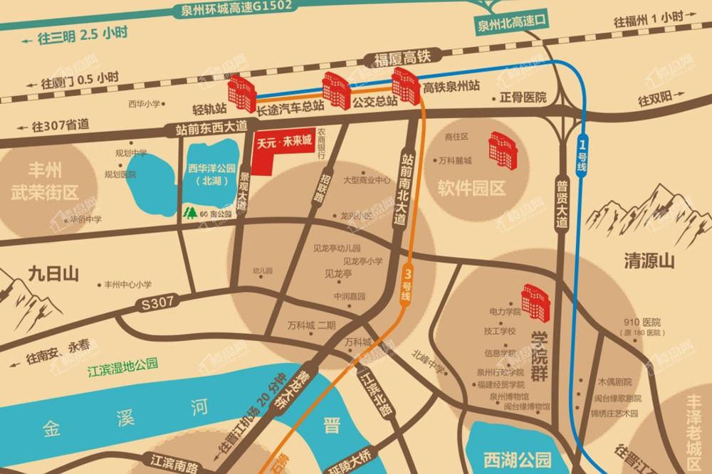 天元未来城位置图