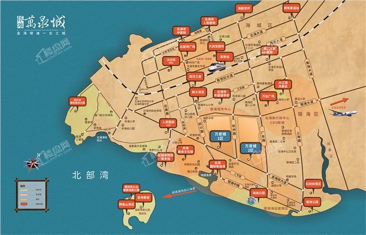 银滩万泉城区位图