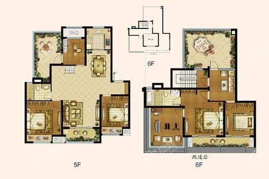 中海寰宇天下普通洋房130 5室2厅2卫1厨