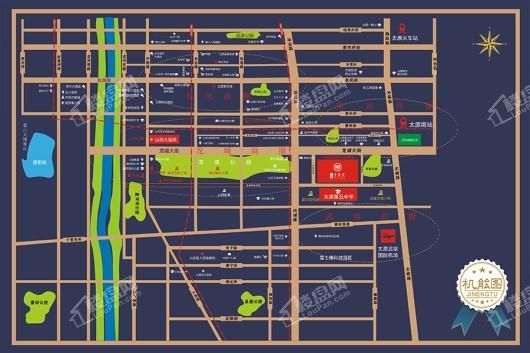 诺德清华里交通图
