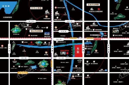 珍宝岛·领寓交通图