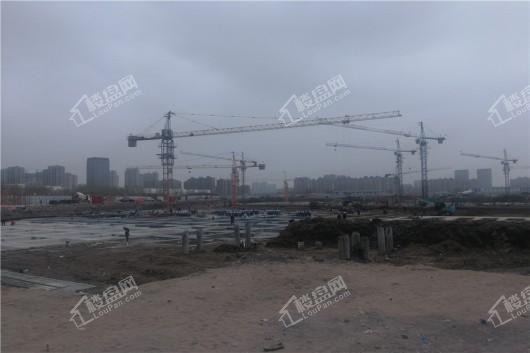 青阳华府项目工地施工现场全景