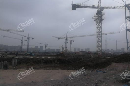 青阳华府项目工地施工现场侧景
