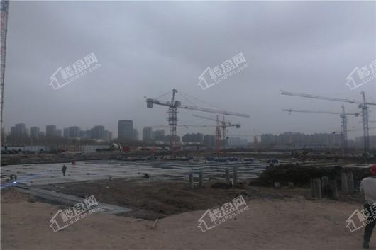 青阳华府项目工地打地基