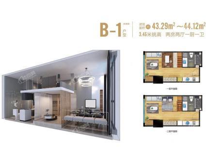 B-1 44 平方米