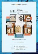 茈碧庄园标准层J2/H2户型
