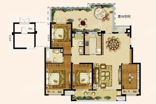 中海寰宇天下退台洋房3F131平 4室2厅2卫1厨