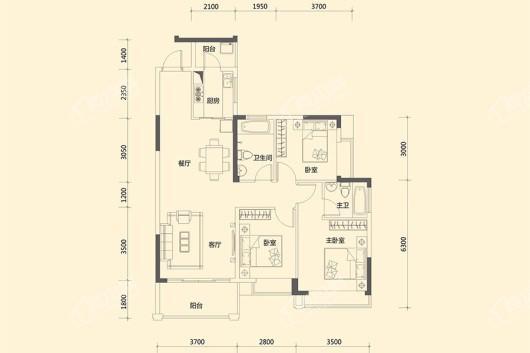香缤1号户型图