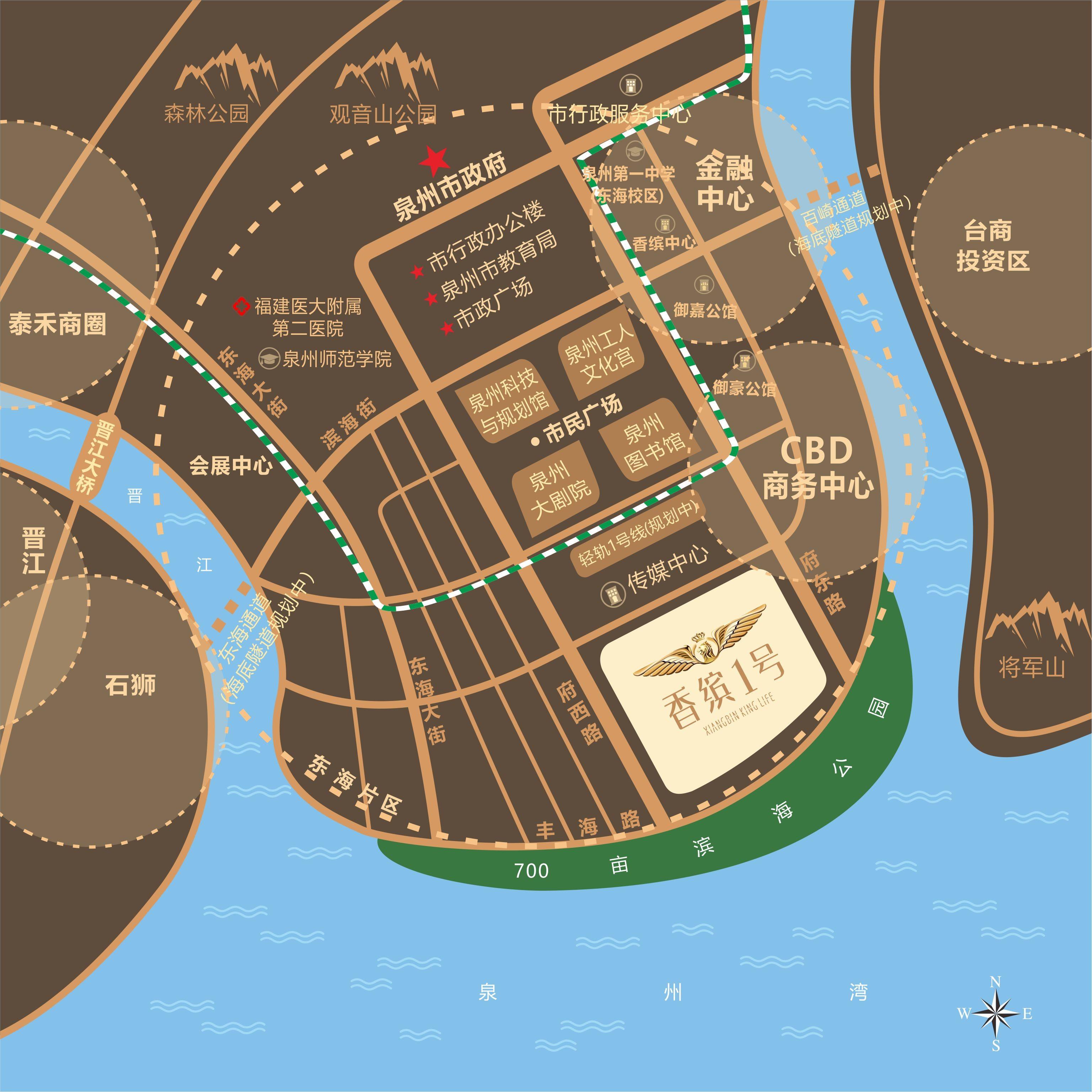 香缤1号位置图