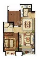 B3户型 2室2厅1卫 建筑面积:约67m²