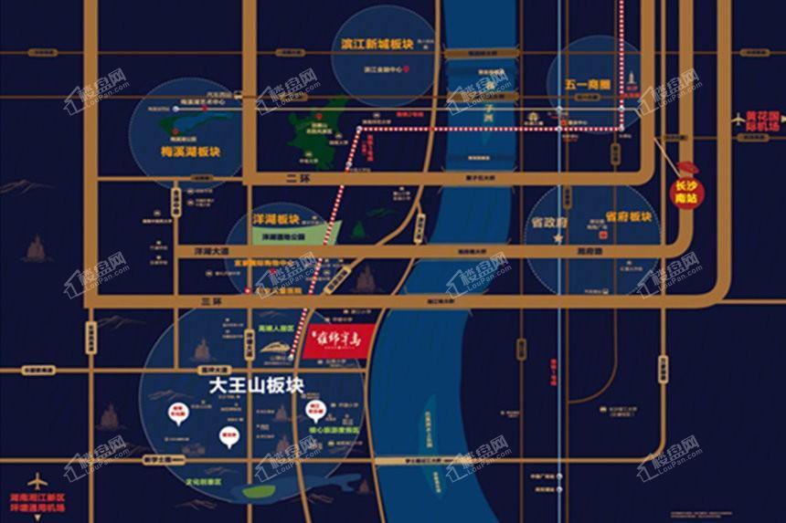 藍光雍錦半島位置圖
