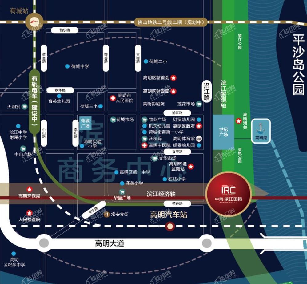 中南滨江国际位置图