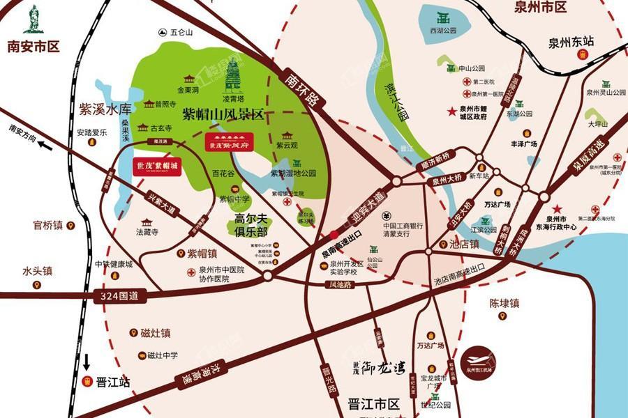 世茂国风紫帽位置图