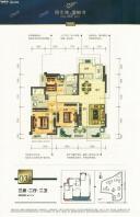 8#楼03户型-三房两厅两卫-107㎡