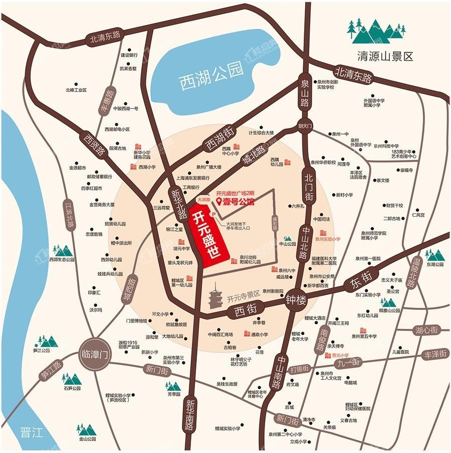 开元盛世广场位置图
