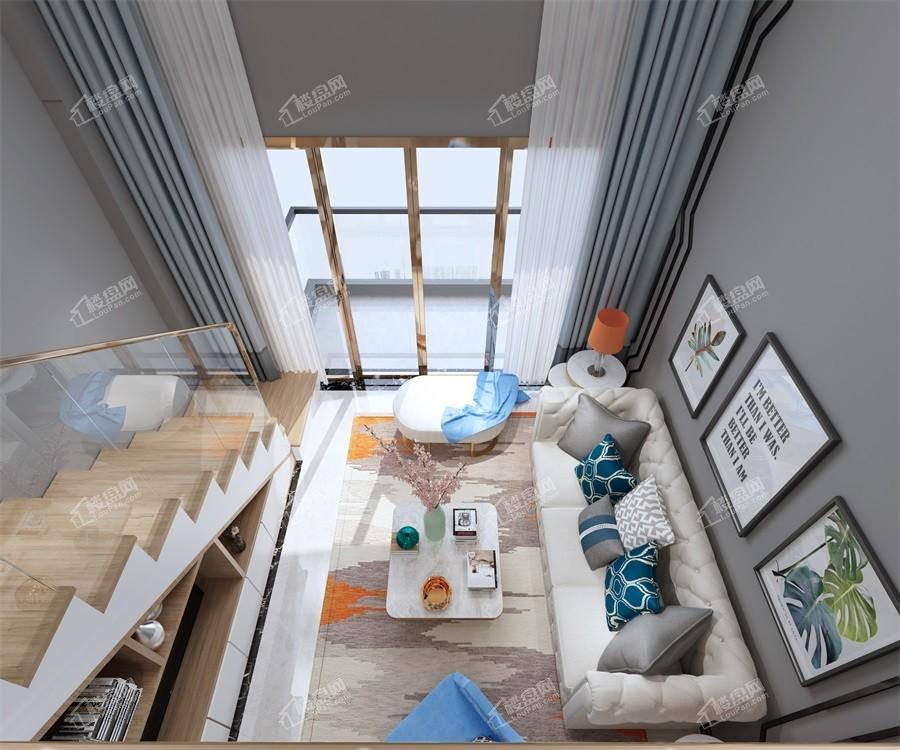 1#楼38㎡样板间客厅实景图