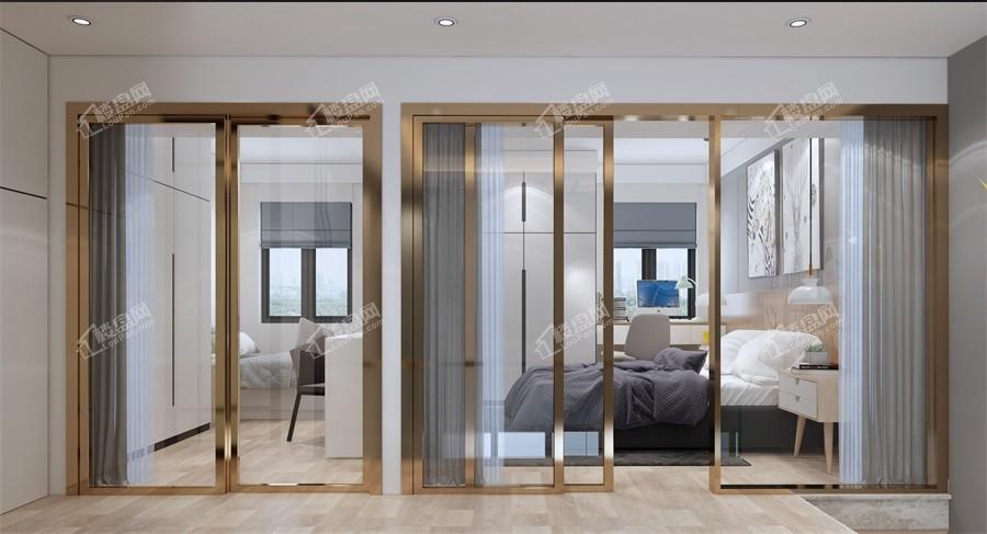 2#楼38㎡样板间卧室实景图