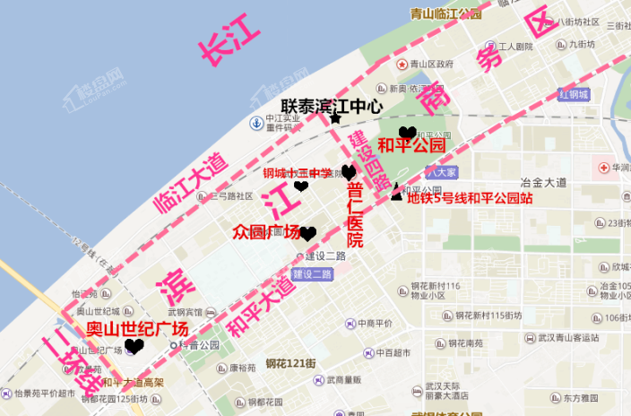 联泰滨江中心江寓位置图